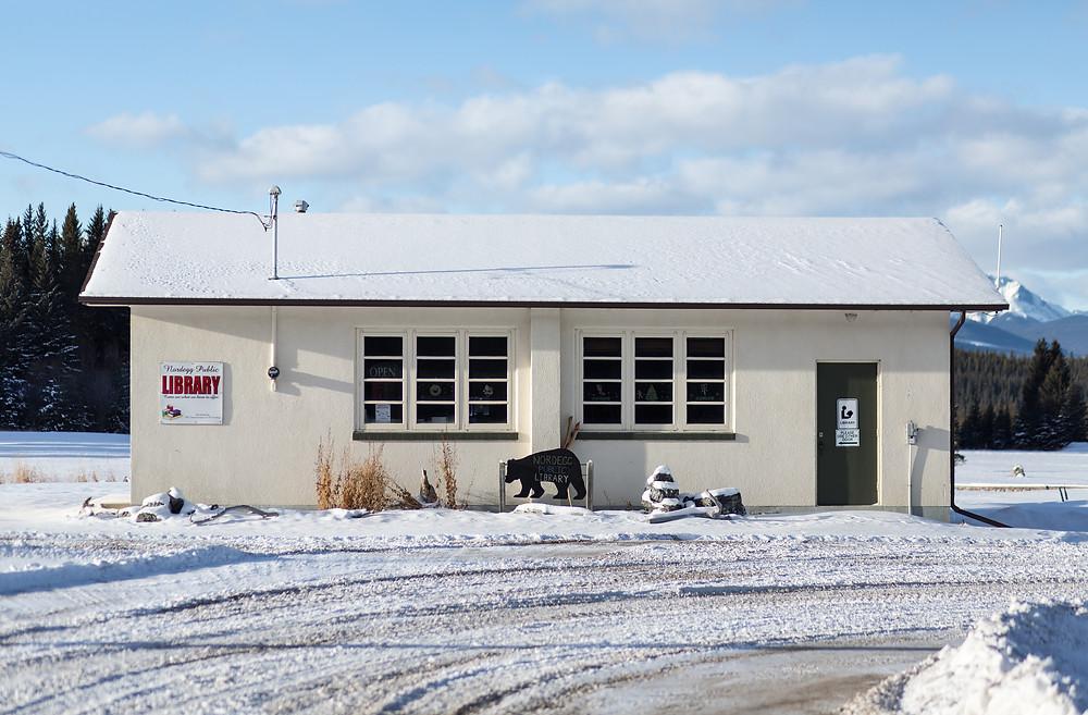 Public Library in Nordegg, Alberta, Canada