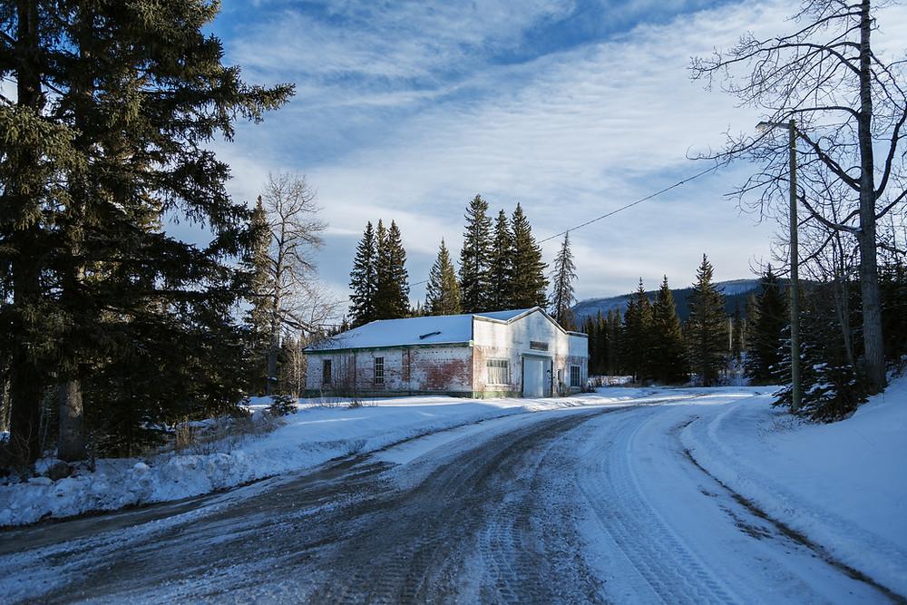 Winter in Nordegg, Alberta, Canada