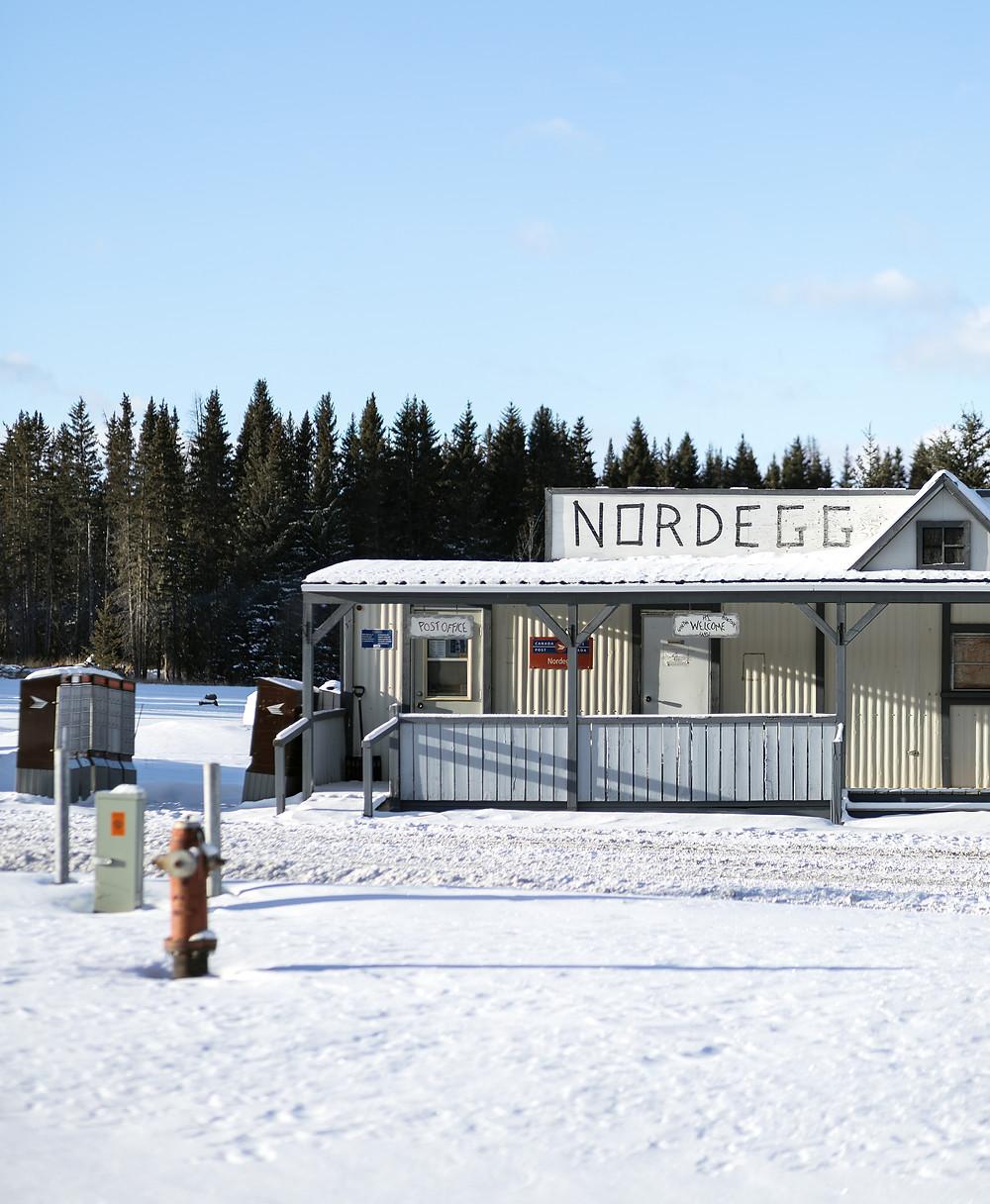 Winter Scenery in Nordegg, Alberta, Canada