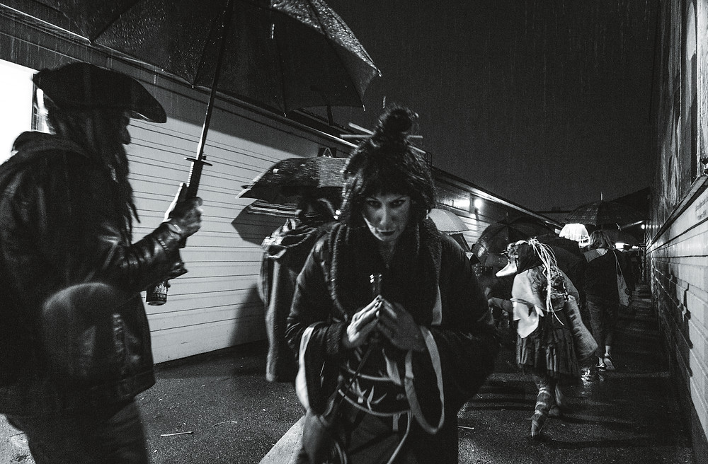 Parade of Lost Souls on Halloween in Vancouver, British Columbia