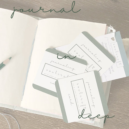 journal in deep - one off project
