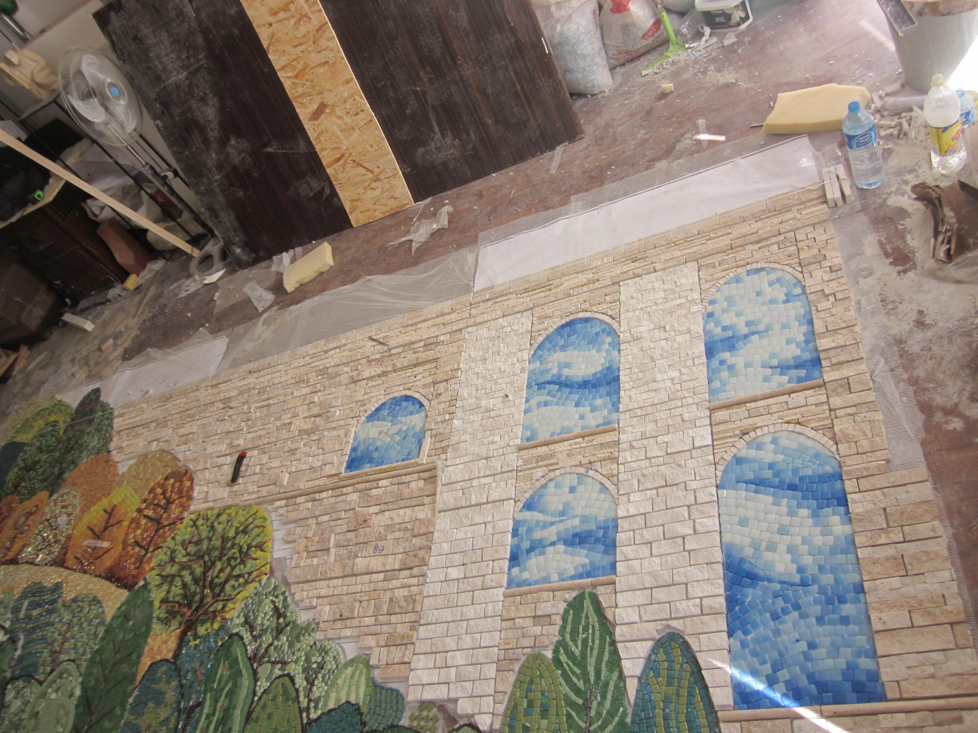 Mağlova Köprüsü Mozaik Çalışması5