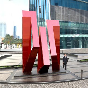 Torun Tower Logo Heykel Tasarımı