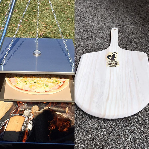 Campfire Oven, Tripod, and Pizza Peel