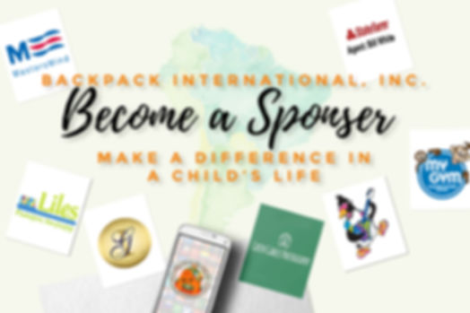 backpack international, become  sponsor, sno biz, liles pediatric dentistry, bill white state farm