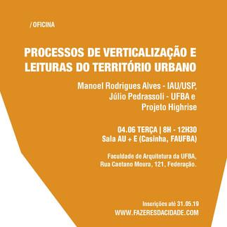 PROCESSOS DE VERTICALIZAÇÃO E LEITURAS DO TERRITÓRIO URBANO