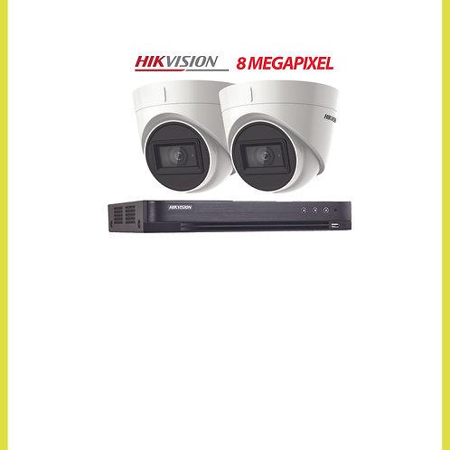 2 Camera CCTV Kit 8 Mega-pixel System Installed