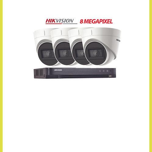 4 Camera CCTV Kit 8 Mega-pixel System Installed