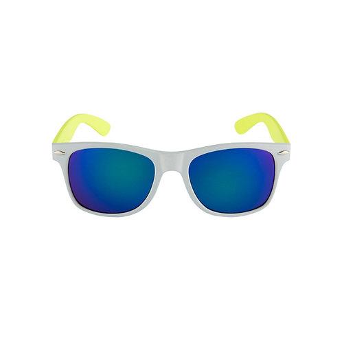 Breo Two Tone Mirror Sunglasses - Grey/ Lime