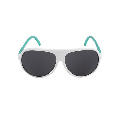 Breo Ellipse Rubber Sunglasses - White/ Aqua