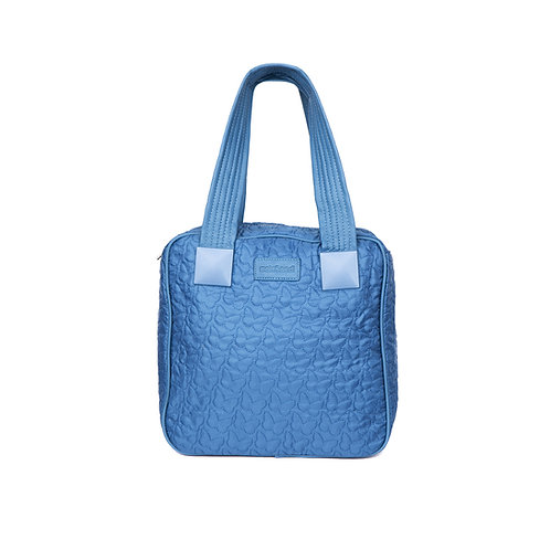 malc&andi Square Slouch Bag - Sea Blue