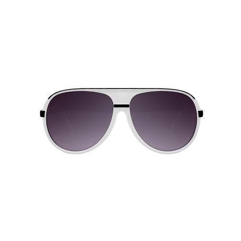 Breo Ellipes Sunglasses - White/ Black