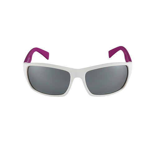Breo Edge Mirrored Sunglasses - White/ Pink