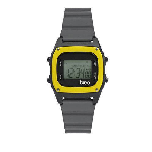 Breo Binary Digital Watch - Grey/ Yellow