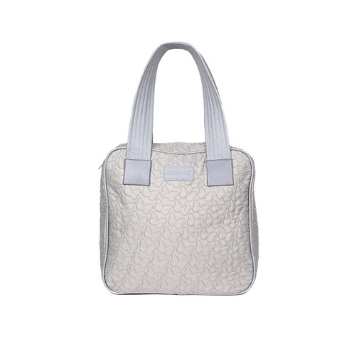 malc&andi Square Slouch Bag - Silvery Grey