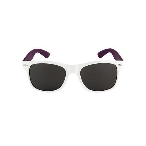 Breo Two Tone Rubber Sunglasses - White/ Purple