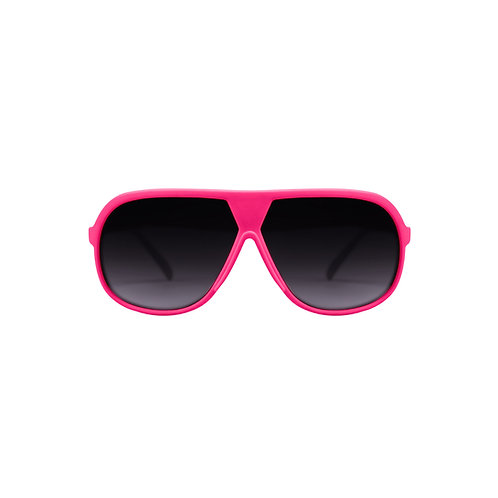 Breo Octagon Rubber Sunglasses - Pink/ Yellow