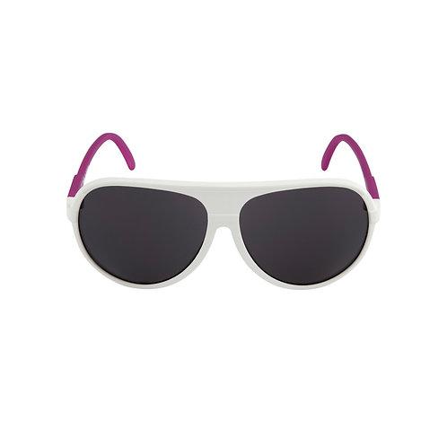 Breo Ellipse Rubber Sunglasses - White/ Purple