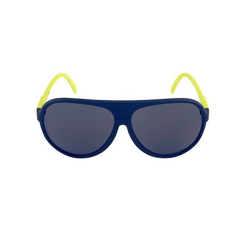 Breo Ellipse Rubber Sunglasses - Navy/ Lime