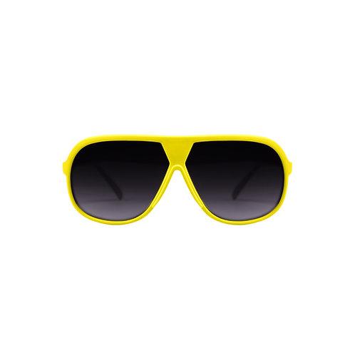Breo Octagon Rubber Sunglasses - Yellow/ Green