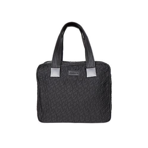 malc&andi Large Slouch Handbags -Satin Black