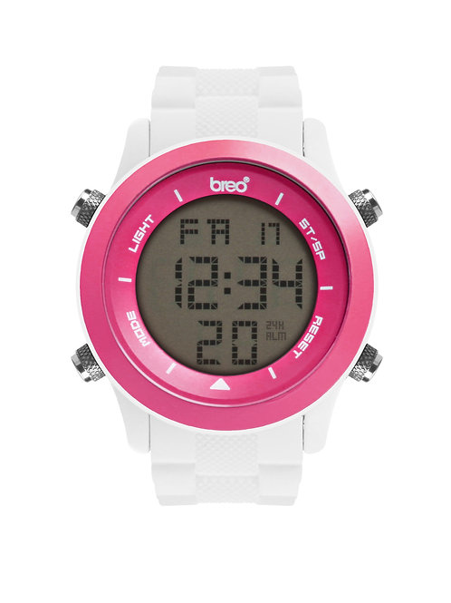 Breo Orb Watch - White/ Pink