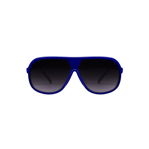 Breo Octagon Rubber Sunglasses - Blue/ Cyan