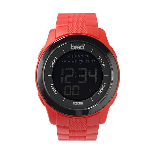 Breo Orb Ten Digital Watch- Red/ Black