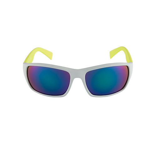 Breo Edge Mirrored Sunglasses - Grey/ Lime