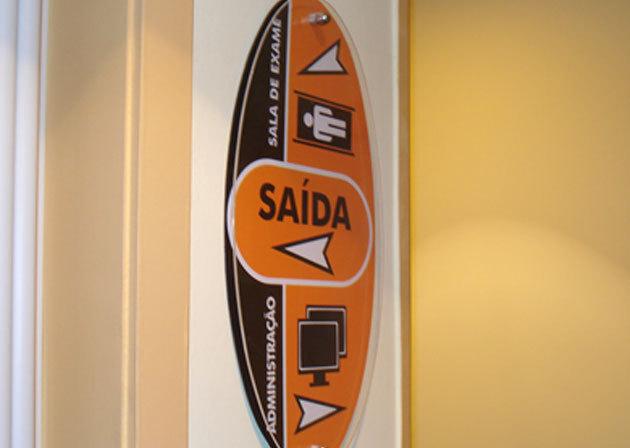 Placa sinalização interna Ciim