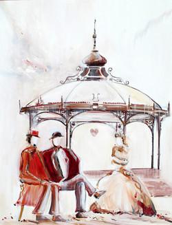 Con versation entre Eugène et Eugène - 116 x 89 cm