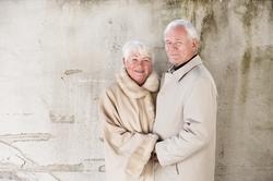 Seniorportrett av par