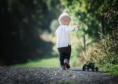 Barnefotografering ute i naturen