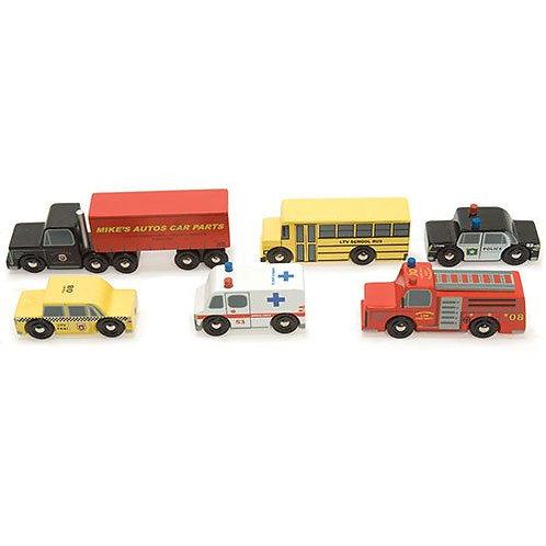 Le Toy Van – Wooden New York Car Set