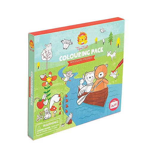 Tiger Tribe – Woodland Friends Colouring Pack –