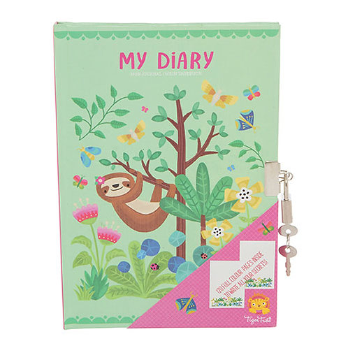 Tiger Tribe – Lockable Diary – Tropical Sloth