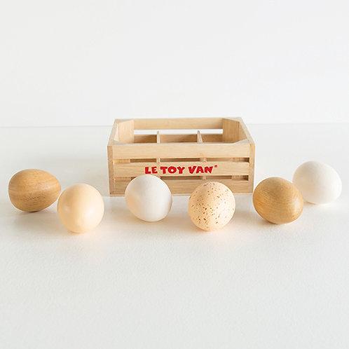 Le Toy Van – Farm Eggs Half Dozen