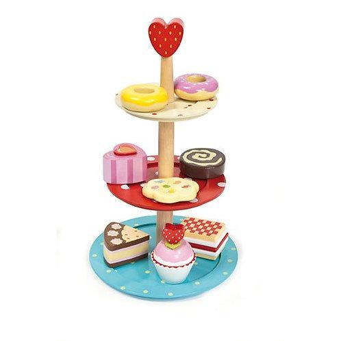 Le Toy Van – Honeybake Wooden Cake Stand Set