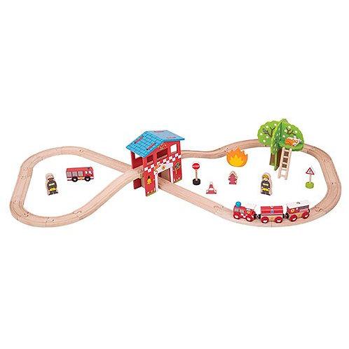 Big Jigs – Fire Station Train Set