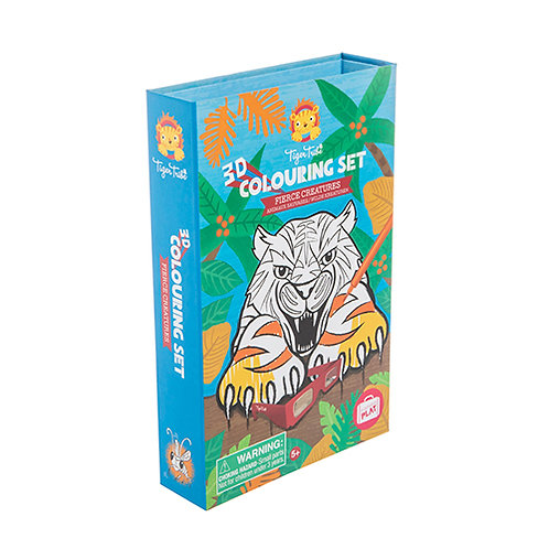 Tiger Tribe – 3D Colouring Set – Fierce Creatures
