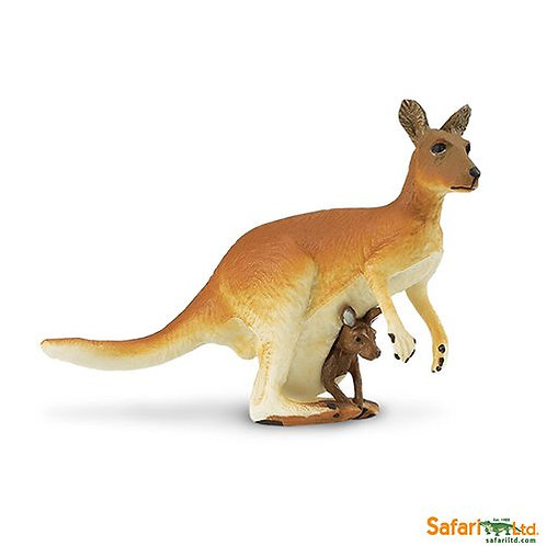 Safari Ltd – Kangaroo with Baby (Wild Safari) 292029