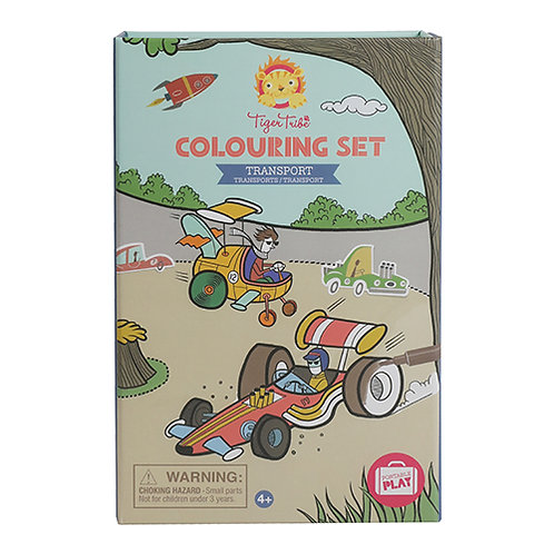 Tiger Tribe – Colouring Set – Transport