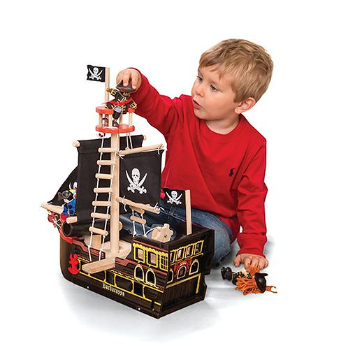 Le Toy Van – Barbarossa Wooden Pirate Ship