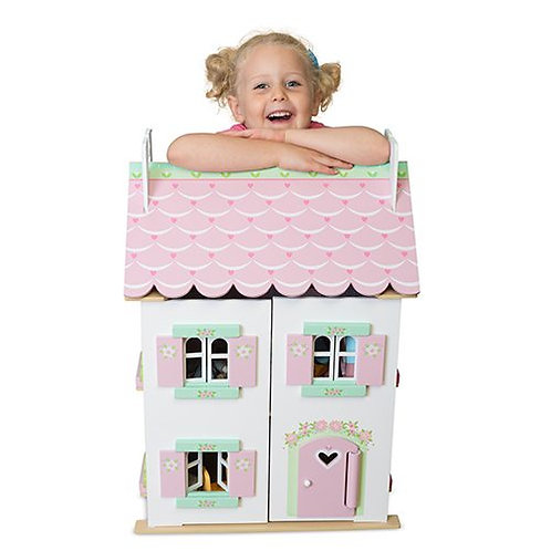 Le Toy Van – Sweetheart Cottage Dollhouse with furniture H126 (Bestseller)