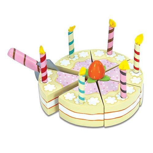 Le Toy Van – Honeybake Wooden Vanilla Birthday Cake