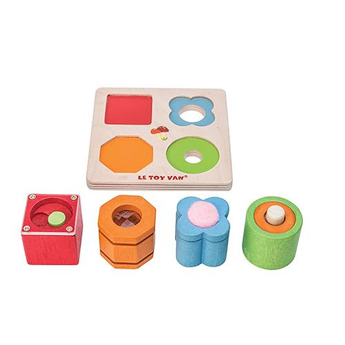 Le Toy Van – Petilou 4 Piece Wooden Sensory Tray Set PL093