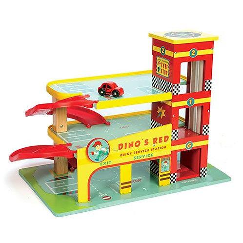Le Toy Van – Dino's Wooden Red Garage
