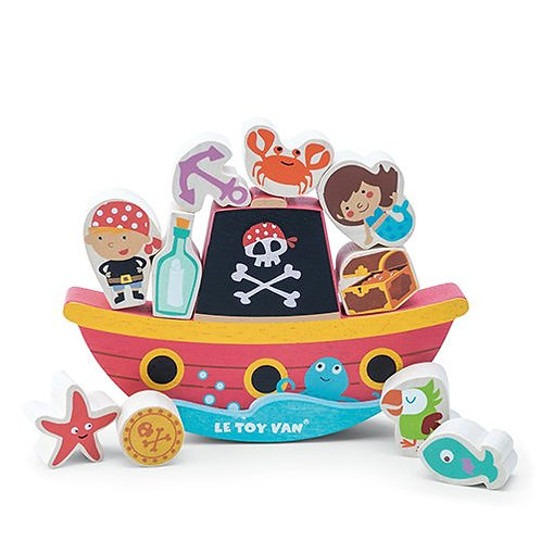 "Le Toy Van – Pirate Balance ""Rock 'n Stack"""