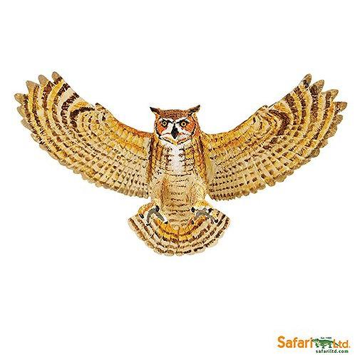 Safari Ltd – Great Horned Owl (Wings Of The World Birds) 264429