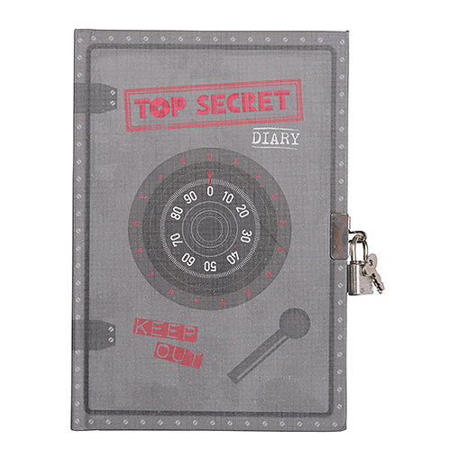 Tiger Tribe – Lockable Diary – Top Secrets